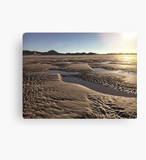 Inlet Beach Low Tide Sunset Photography Canvas Print