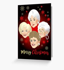 Golden Christmas Greeting Card