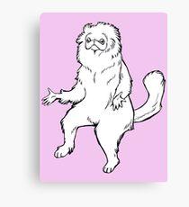 Persian Cat Room Guardian Design Canvas Print