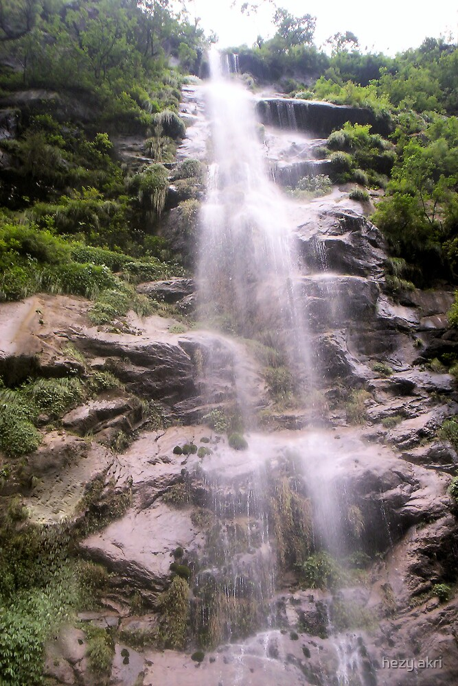 a waterfall in nepal on the anaporna trek  by hezy akri