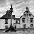 The Mercat Cross at Culross - B&W by Tom Gomez