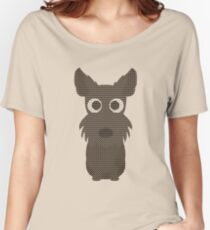 Scottish Terrier Ugly Christmas Sweater Design Women's Relaxed Fit T-Shirt
