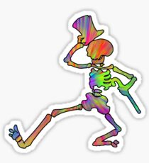 Grateful Dead Dancing Skeleton Trippy Sticker
