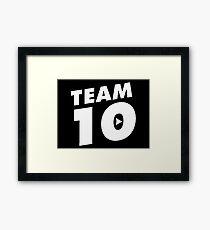 Official Jake Paul © Merch – Team 10 Framed Print
