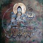 White Tara with mantra by Silk Alchemy