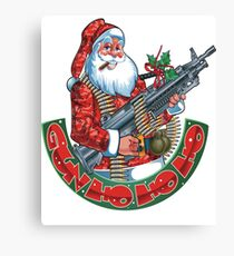 Machine Gun Santa   Canvas Print