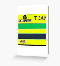 Ayrton Senna Team Lotus era helmet. Greeting Card
