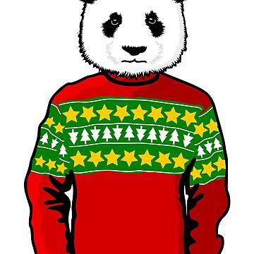 Ugly Christmas Sweater Panda by pda1986