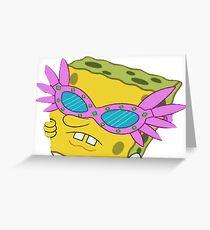 Spongebob Pink Glasses Greeting Card