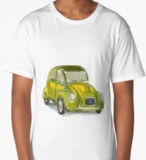 Classic Citroën Deux Chevaux 2CV Loose Sketch - Yellow Long T-Shirt