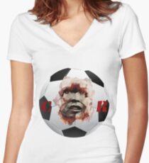 Ronaldo football Women's Fitted V-Neck T-Shirt