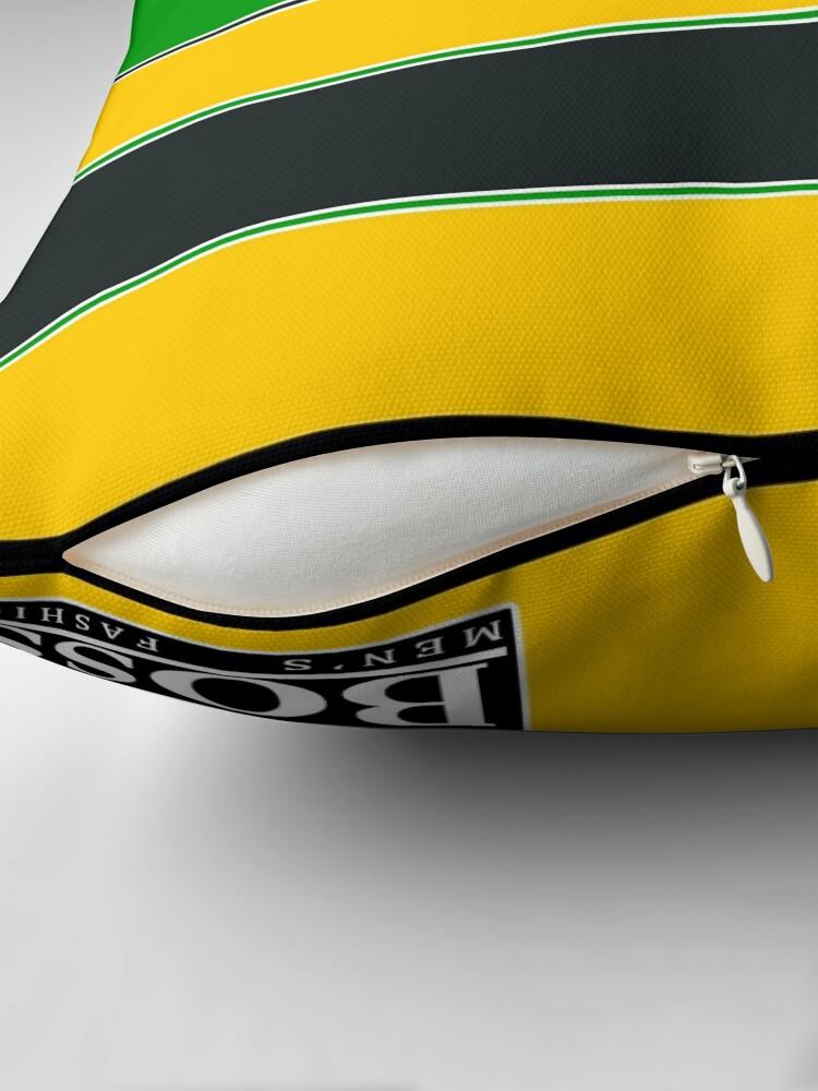Vista alternativa de Cojín Casco de la era Ayrton Senna McLaren.