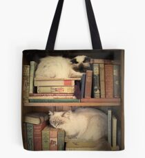 Library Cats Tote Bag