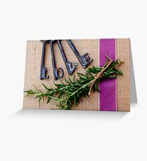 Keys Of Love With Rosemary Greeting Card