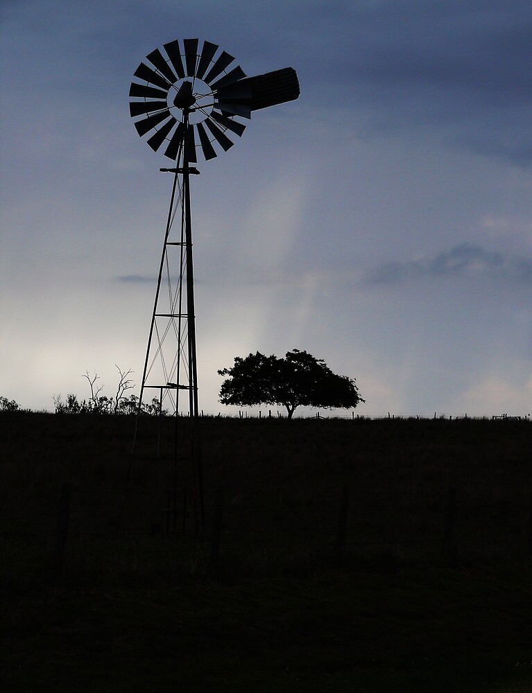 Windmill Silhouette by Tim Everding