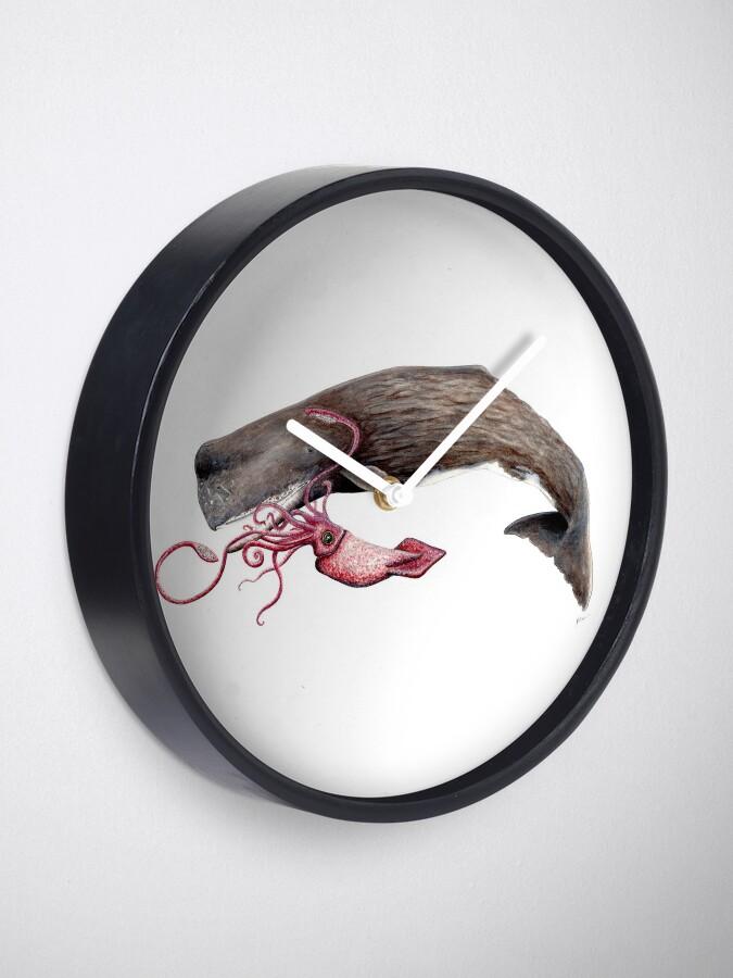 Vista alternativa de Reloj Batalla de cachalote y calamar