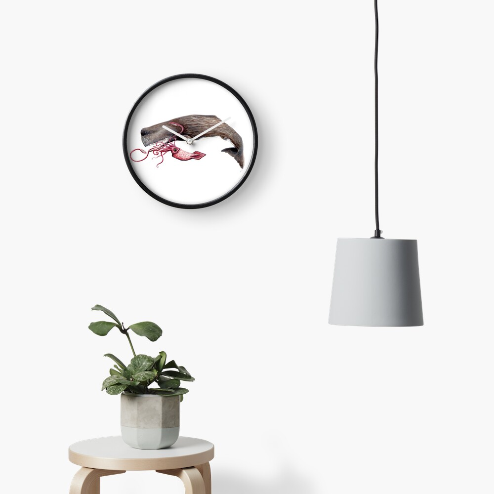 Batalla de cachalote y calamar Reloj