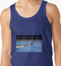 Cormorant at  the Weir at Exeter Devon.UK Tank Top