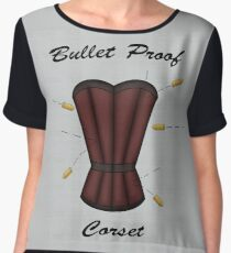 Bulletproof Corset Chiffon Top