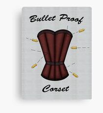 Bulletproof Corset Canvas Print