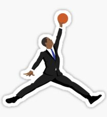 Obama black suit x Jumpman Sticker