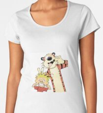 Calvin and Hobbes-Original Women's Premium T-Shirt