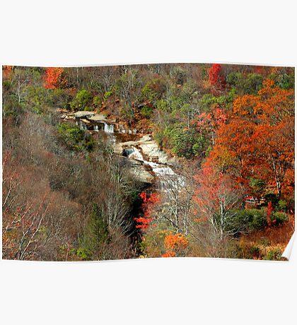 Upper Graveyard Falls, Blue Ridge Parkway, North Carolina Poster