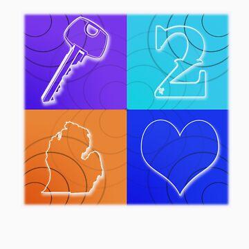 Key 2 MI Heart by RandomDesign