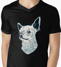 Tattooed - brutal dog Men's V-Neck T-Shirt
