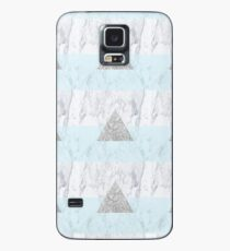 Marble Triangle Blue Case/Skin for Samsung Galaxy
