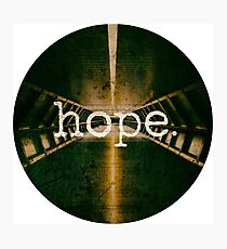Hope - Christian Quote - Cool Modern Design Photographic Print