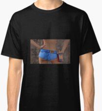 Sexy Denim Hot Pants Babe Classic T-Shirt