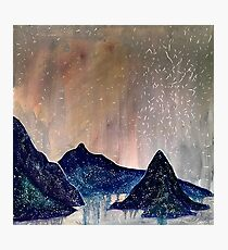Starry Mountains Photographic Print