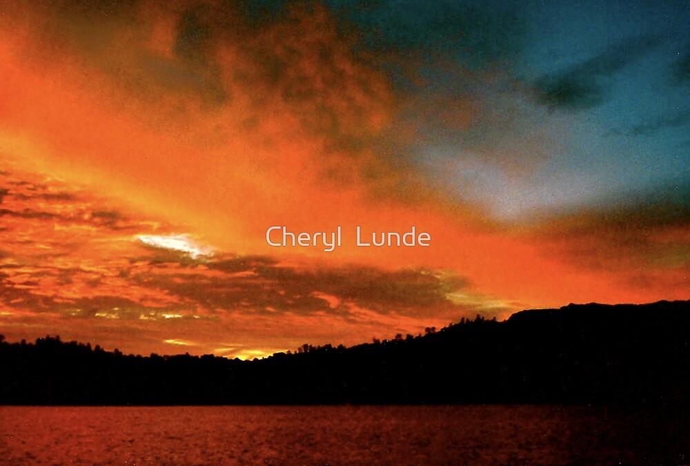 Orange Sky by Cheryl  Lunde