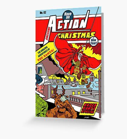 Action Christmas - Sky Santa! Greeting Card