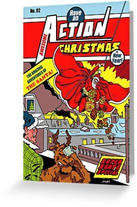 Action Christmas - Sky Santa! by Jokertoons