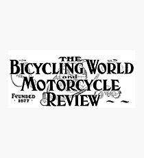 Bicycling World & Motorcycle Review 1907 Cover Art Photographic Print