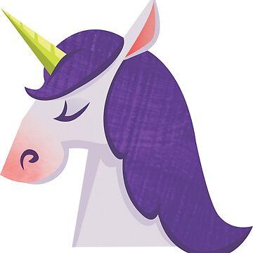 Purple haired unicorn by lizzelizzel