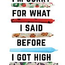 I'm Sorry For What I Said Before I Got High by KUSH COMMON