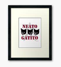 Neato Gatito Sassy Cat Slogan Framed Print