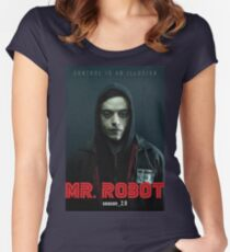 Mr. Robot Poster Women's Fitted Scoop T-Shirt