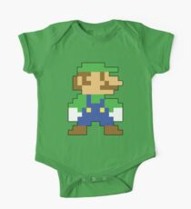 Super Mario 3D World Luigi Sprite Baby Body Kurzarm