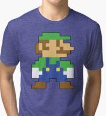 Super Mario 3D World Luigi Sprite Tri-blend T-Shirt