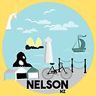 Nelson with the market by Pip Pottage
