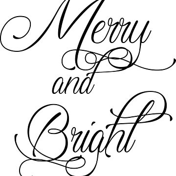 Merry and Bright - black by fionawb
