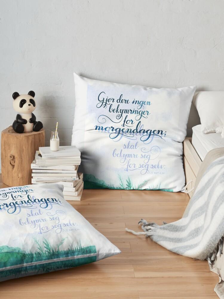 Alternate view of Gjør dere ingen bekymringer Floor Pillow