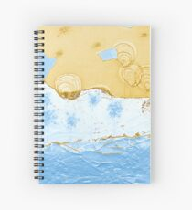 Bubble Flowers by the Puzzle Sea Spiral Notebook