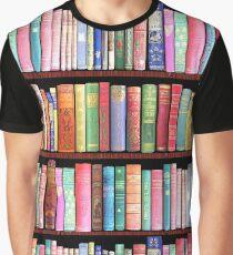 Bücherwurm Antike Bücher Grafik T-Shirt