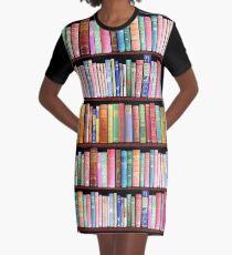 Bücherwurm Antike Bücher T-Shirt Kleid