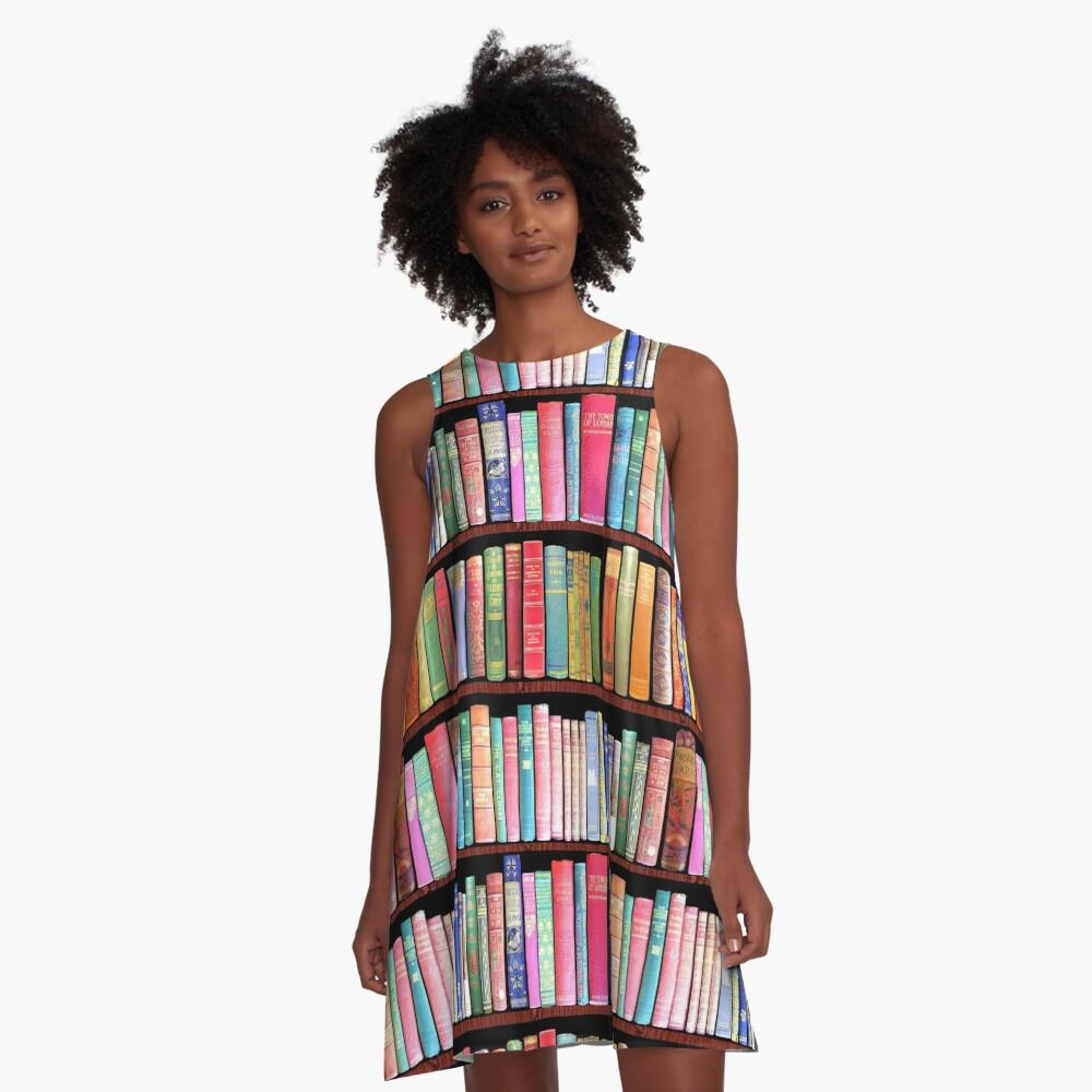 Bookworm Antique books A-Line Dress